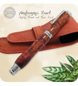 Virage Fountain Pen handmade in Amboyna Burl Wood Pens