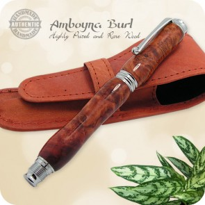 Virage Fountain Pen handcrafted from Amboyna Burl Wood