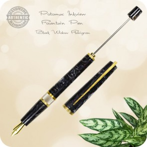 Potomac Inkview Fountain Pen - Black Widow Flexigran - Richard L. Greenwald