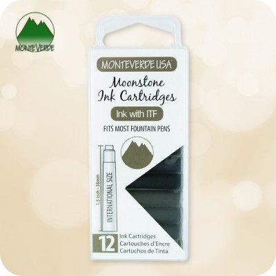 Moonstone Monteverde ITF Fountain Pen Ink Cartridges 12pc - Standard Size