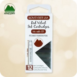 Red Velvet Monteverde ITF Fountain Pen Ink Cartridges 12pc - Standard