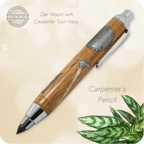 Carpenter Gift - Artists Sketch Clutch Pencil, 5.6mm Lead handcrafted 17 Piece Inlay by Kallenshaan