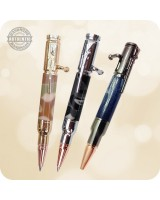 30 Cal Mini Bolt Action Ballpoint Pen, D1 - Custom Handcrafted