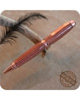 Big Cigar Ballpoint Twist Pen handmade from Braided Copper Band - Parker Refill