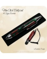 Soft Touch Stylus & MINI Pocket Click Ballpoint Pen - Mudslide Acrylic, Chrome