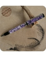 Classic Ballpoint Twist Pen Handmade Purple Pebble Acrylic, Chrome, Parker G2