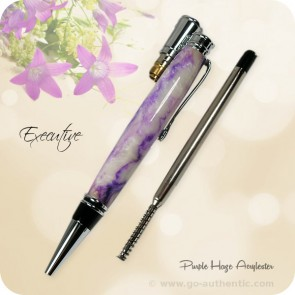 Executive Ballpoint Twist Pen handcrafted Purple Haze Acrylic