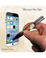 Telescoping Soft Touch Stylus Ballpoint Pen Handmade - Chrome