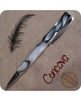 Concava Ballpoint Twist Pen Handmade, Chrome, Cross Refill