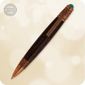 Celtic Irish Ballpoint Twist Pen - Wood, Acrylic, Tru-Stone, Metal