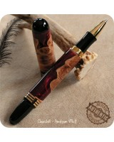 Churchill Rollerball Pen handmade from Burgundy Fusion Amalgam-Mutt