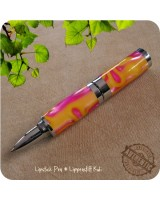 Mini Lipstick Ballpoint Pen handmade from Taffy Swirl Acrylic