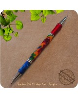 Teachers Double Ballpoint Twist Pen handmade from Rainbow Acrylic