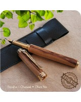 Executive Fountain Pen handmade from Bethlehem Olive Wood