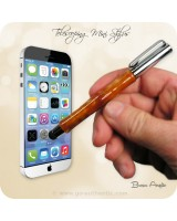 Telescoping Soft Touch Stylus Pen Handmade - Brown Acrylic