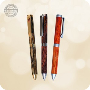 Credit Card Mini Ballpoint Twist Pen D1 - Wood, Acrylic, Antler +