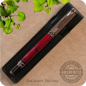 Vertex Fountain Pen - Burled Wood, Acrylics, Tru-Stone, Metal +