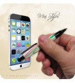 Mini Soft Touch Stylus Pen Handmade - Happy Trails Acrylic