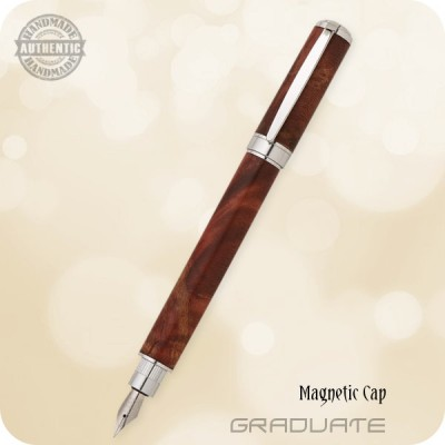 Magnetic Graduate Fountain Pen - Burled Wood, Acrylics, M3 +