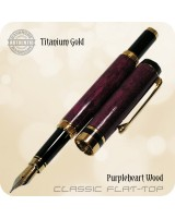 Classic Flat-Top Fountain Pen, Purpleheart Wood