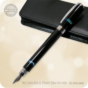 Magnetic Graduate Fountain Pen handcrafted Volcanic Lava Ash