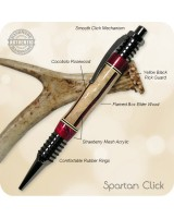 Spartan Gripper Ballpoint Click Pen - Handcrafted Wood & Acrylic Segments