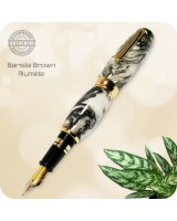 El Toro Fountain Pen, Titanium Gold - Barista Brown Alumilite Handmade