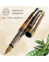 Jr. Majestic Fountain Pen Handmade - Tasmanian Sassafras Wood