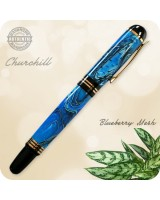 Churchill Rollerball Pen handmade from Blueberry Mesh Acrylic