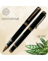 Oxford Rollerball Pen, Jett Black Acrylic Handcrafted