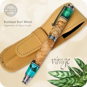 Virage Fountain Rollerball Pen handcrafted Segmented Wood & Acrylic