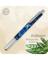Rollester Rollerball Pen, Midnight Sky Acrylic, Handcrafted