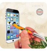 Mini Telescoping Soft Touch Stylus Pen Handmade - Rainbow