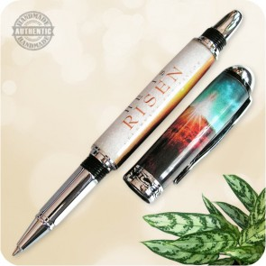 Handmade Sedona Rollerball Fountain Pen - He Is Risen Acrylic