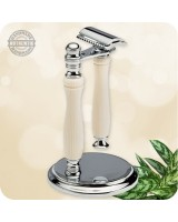 Traditional Safety Razor with Stand - Custom Handcrafted