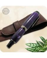 El Toro Compact Fountain Pen, Gun Metal - Purple Grape Acrylic Handmade