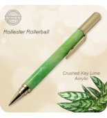 Rollester Rollerball Pen, Crushed Key Lime Acrylic, Handcrafted