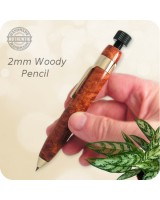Woody Sketch Pencil, 2mm Lead - Handmade Amboyna Burl Wood