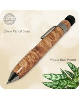 Woody Sketch Pencil, 2mm Lead - Handmade Maple Burl Wood