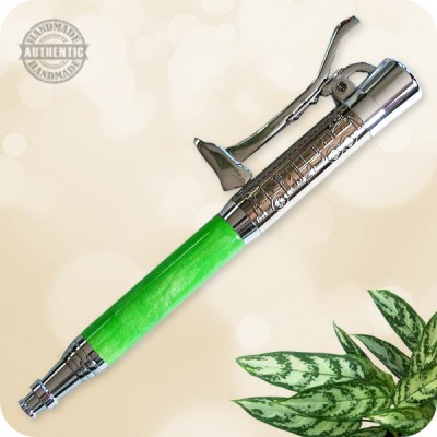 Fireman's Ballpoint Pen handcrafted from Lime Zinger Acrylic