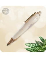 3mm Mini Sketch Pencil handcrafted in Deer Antler Horn, Chrome