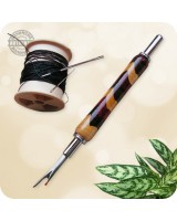 Wooden Handle Seam Ripper Dual Blade  - Segmented Woods Handmade