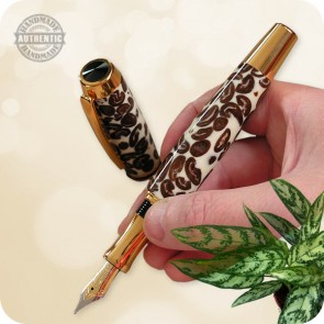 Handmade Fountain Pen Full Size Gentlemens - Coffee Beans