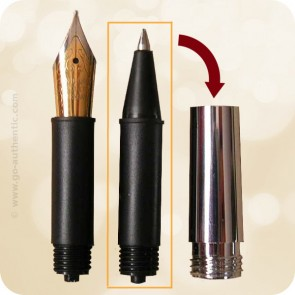 Ink-Ball Roller Adapter for Jr. Fountain Pens with Metal Section