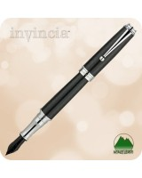 Monteverde Invincia Deluxe Fountain Pen - Carbon Fiber Chrome - MV41291