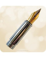#5 Standard Metal Fountain Pen Nib - Complete, Gold or Chrome