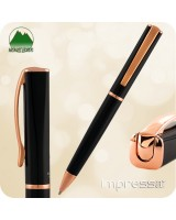 Monteverde Impressa Ballpoint Twist Pen - Black w/ Rose Gold