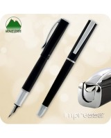 Monteverde Impressa Fountain Pen - Black w/ Chrome