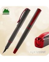 Monteverde Impressa Fountain Pen - Gun Metal Red