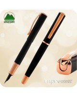 Monteverde Impressa Fountain Pen - Black w/ Rose Gold